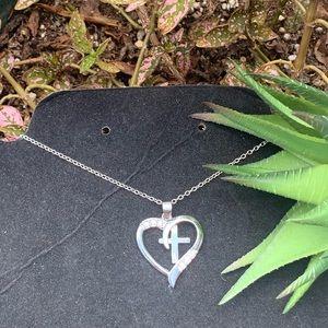 Jewelry - Statement heart cross necklace